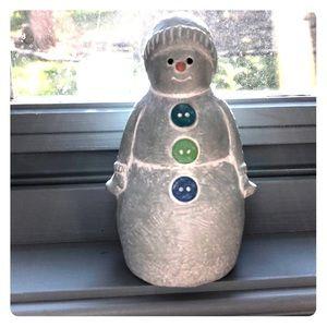 Isabel bloom buttons snowman figurine